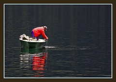 old man fishing (mohammad khorshid (boali)) Tags: old lake man austria see boat am fishing 2008 zell        rubyphotographer