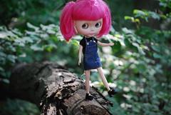 Showing off her mad balance skills. (bisforbeth) Tags: blythe mjs maryjanes ih ichigoheaven