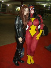 Big Smiles! (BelleChere) Tags: costume cosplay wizardworld spiderwoman jeangrey wizardworldchicago