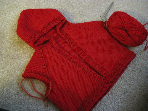 red baby sweater 070908