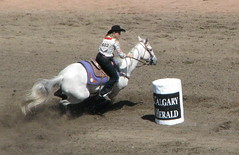 Barrel Racing (labels_30) Tags: horses white calgary up cowboys cowboy barrels hats guys alberta rodeo cowgirl pick stampede stetsons calgarystampede barrelracing stampedegrounds infiels labels30 whitecowboyhats cowbowys
