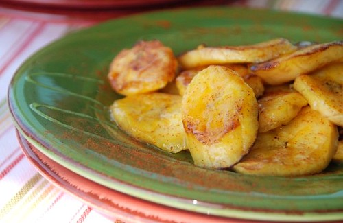 plantains with honey and lime