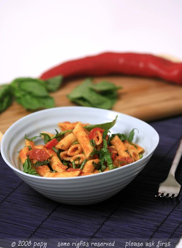Penne with Vegetable Marinara Sauce 2