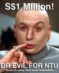 Dr Evil to go to NTU