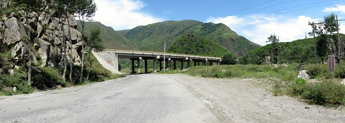Old China National Highway 109 and new expressway to Xining, Qinghai Province, China