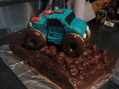 Dylan 1st birthday 030808 008 (sharifield) Tags: birthday monster cake truck mudcake monstertruck truckcake monstertruckcake monstertruckbirthdaycake