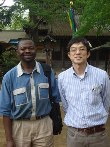 Clement with Professor Hirakawa
