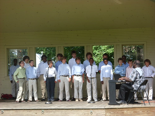 Camp Dudley Gospel Choir performs in Ballard Park
