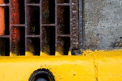 that's grate! (sawall) Tags: yellow alaska grate boot juneau curb stormdrain gripfast notaglacier