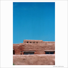 the roof cannot be on fire (Yannick Delmaire) Tags: sky usa newmexico film architecture buildings adobe analogue nm yannick delmaire yannickdelmaire