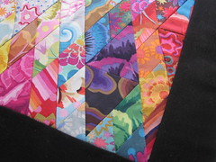 Diamond Fassetts - DQS4 (WendysKnitch) Tags: diamonds doll quilt 4 swap kaffefassett fassett dqs4