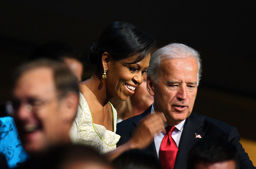 Michelle Obama and Biden