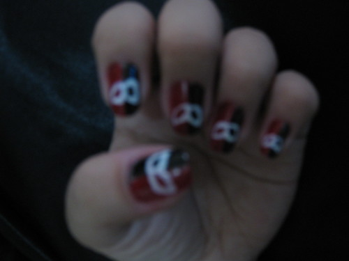 Phantom of the opera inspired nailart design