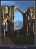 Through the arch (Madiash) Tags: greatbritain winter sunset england sky history church abbey architecture landscape ancient travels holidays europe december cathedral atmosphere fountainsabbey romanesque romanic top20castle ysplix theunforgettablepictures goldstaraward lpdamaged