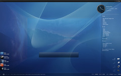 LS: Enigma in Rainmeter (Kaelri) Tags: desktop transparency deskspace lifehacker customization rainmeter launchy yodm slanxp dcolor xentient