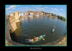 Boating (scuba_dooba) Tags: river boats boat great ouse stives 180° cambridgeshire 105mm 180º