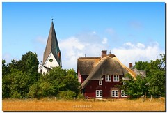 ISLAND of AMRUM  - Nebel (PHOTOPHOB) Tags: sea beach church strand germany island deutschland flickr nebel north kirche himmel wolken insel northsea alemania nordsee allemagne watt friesland germania amrum frysln photophob damniwishidtakenthat freesland fraschlnj mygearandmepremium