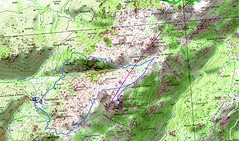 Carte boucle Omu di Cagna (parcours Dominique Treillard en 07/2008)