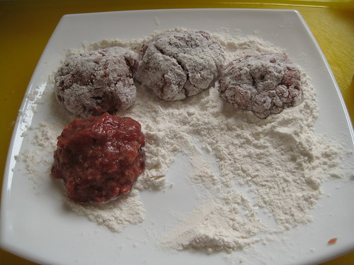 Meatball in flour