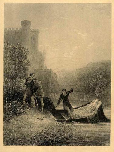 06- Torre y Lavaine despidiendose del cuerpo de Elaine