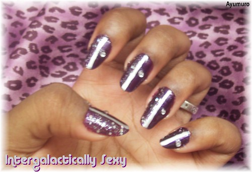 Intergalactically Sexy Nail Art Design