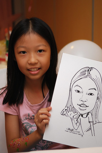 Caricature live sketching for birthday party 5