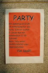 Party (außerirdische sind gesund) Tags: party linz typography austria busstop comicsans unionkreuzung dsc4684 wienerstrase unionstrase omkakkoithiquafa