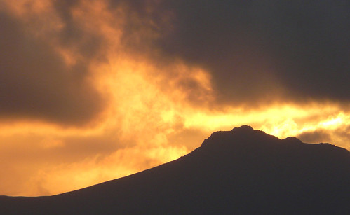 Sunset over Arran hills