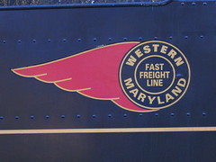Western Marland Fast Freight (The Ghostcop) Tags: county old railroad red mountain west green fall water colors beautiful forest train gold virginia big sticker tank symbol scenic large engine logging fast maryland tourist steam line wv western fireman huge locomotive six magnet cass freight pocahontas excursion geared