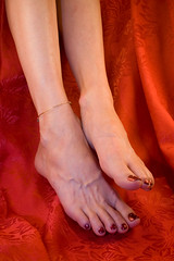 Red Hots (dart5150) Tags: red woman hot feet cupcakes us toes legs barefeet ok paintedtoes