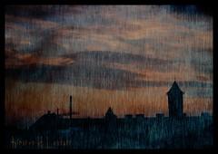 Silhouettes of the Night (Kirsten M Lentoft) Tags: sunset tower denmark crane silhouettes textured glostrup firstquality abigfave betterthangood texturebyghostbones damniwishidtakenthat tightgoodnighthugs lesamisdupetitprince kirstenmlentoft mmmmmmmmuahhh