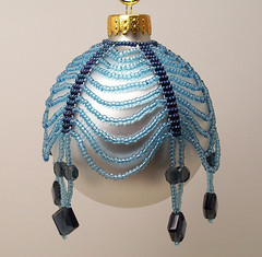 Blue Swag Christmas Ornament