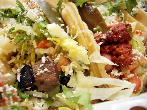 Tacos De Lengua & Tacos De Chorizo @ Las Poblanitas
