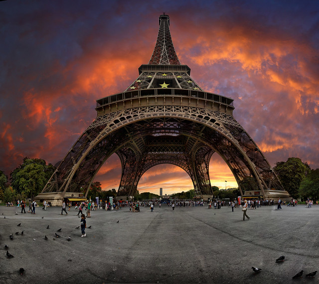 Eiffel tower, Paris, France. Tourist, photographer, if you go, once to this great place, remember this picture
