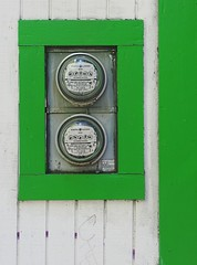meter made (Darwin Bell) Tags: white green wall meters anawesomeshot colorphotoaward superaplus aplusphoto colourartaward
