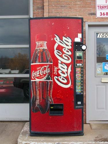 small coke vending machine