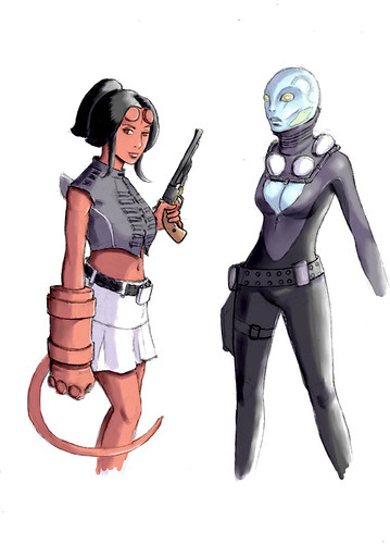 hellgirl and friend col