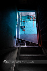 Towards the Glow (amycicconi) Tags: door stairs climb photo stair glow steps basement eerie climbing doorway step mysterious glowing d200 oldbuilding nikond200 amystrycula strycula astrycula climingstairs