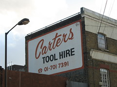 Carters tool hire (John.P.) Tags: uk london bermondsey guesswherelondon ghostsign carters se17 gwl toolhire surreysquare tradesbuildersplumbershandymen ga00490