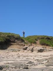 Ted on Hilbre (linniekin) Tags: ted holiday2004 hilbreisland