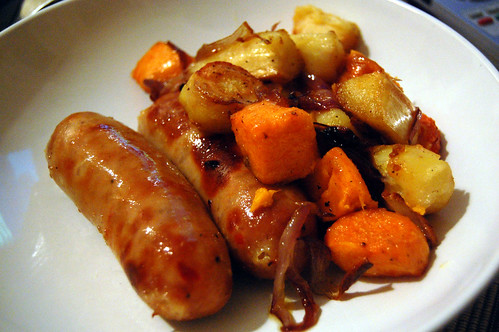 Roasted Root Vegetables with Sausages | Tamarind and Thyme