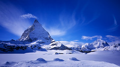 saint matterhorn (H o g n e) Tags: blue winter sky bw white mountain snow mountains alps rock landscape schweiz switzerland landscapes bravo swiss peak explore alpine zermatt matterhorn peaks alp rockformations fe2 cervino mountainpeaks mountainpeak explored bildekritikk