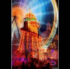 Winter Wonderland (andrewwdavies) Tags: christmas city longexposure wales lowlight fairground cityhall tripod capital cymru cardiff explore nighttime caerdydd ferriswheel bigwheel frontpage wfc winterwonderland helterskelter neuaddyddinas explored canonef24105mmf4lisusm welshflickrcymru canoneos40d andrewwilliamdavies