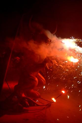 Correfoc Fira de l'Esclata-sant a Mancor de la Vall 2008