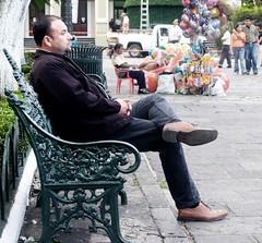 Waiting for love? (Spiralman) Tags: park man love balloons mexico goatee sitting loneliness cordoba veracruz