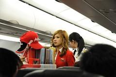 Air Asia Flight Stewardess and Female Pilot (Almixnuts) Tags: venetian cotai cotaistrip cotaistrips
