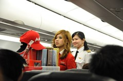 Air Asia Flight Stewardess  and Female Pilot (Almixnuts) Tags: venetian cotai cotaistrip cotaistrips