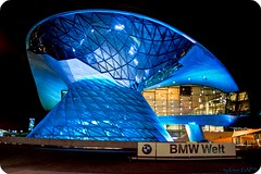 BMW World (DRI) (EXplored #63) (Klaus_GAP - taking a timeout) Tags: blue night germany munich mnchen geotagged bavaria bmw 1001nights dri photomatix bmwwelt bmwworld mywinners abigfave platinumphoto anawesomeshot colorphotoaward theunforgettablepictures goldstaraward