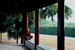 Nap at the temple (Ausamah) Tags: china camera light sleeping people bw woman sun color sexy art history nature girl beautiful sex temple photo bahrain al nice erotic nap colours photographer gulf artistic picture middleeast culture places scene arabic east arab shade historical prc arabian asleep middle  nanjing manama lense bahraini     absi               albahrain     ausamah alabsi