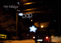 Happy Holidays (Beau Owens Photography) Tags: winter snow blur art oregon truck stars happy photography lights diy holidays bokeh postcard tail eugene card novel conceptual greeting beauowens